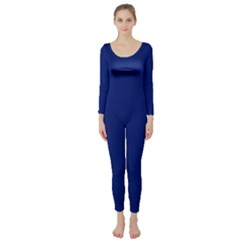 Bubbles Circle Blue Long Sleeve Catsuit by Alisyart