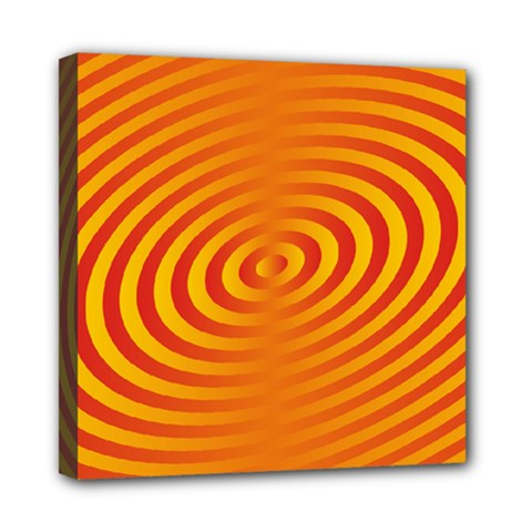 Circle Line Orange Hole Hypnotism Mini Canvas 8  X 8  by Alisyart