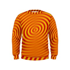 Circle Line Orange Hole Hypnotism Kids  Sweatshirt by Alisyart