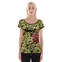 Flower Women s Cap Sleeve Top by Wanni