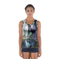Fantastic World Fantasy Painting Women s Sport Tank Top  by Onesevenart