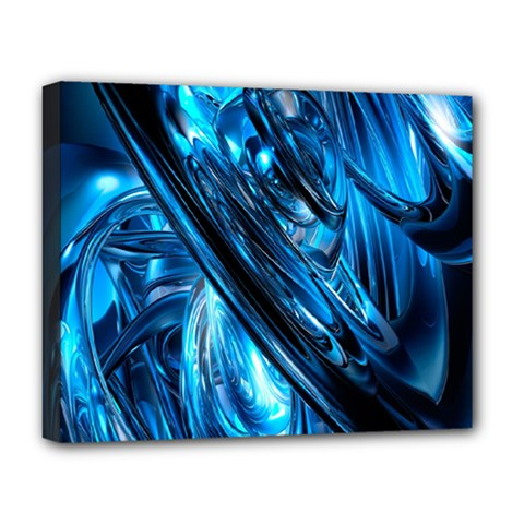 Blue Wave Deluxe Canvas 20  X 16   by Alisyart