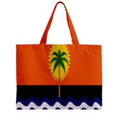 Coconut Tree Wave Water Sun Sea Orange Blue White Yellow Green Mini Tote Bag by Alisyart