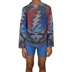 Grateful Dead Logo Kids  Long Sleeve Swimwear by Onesevenart