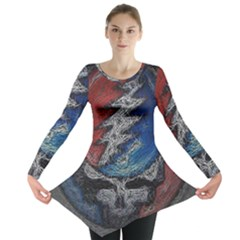 Grateful Dead Logo Long Sleeve Tunic  by Onesevenart