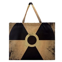 Radioactive Warning Signs Hazard Zipper Large Tote Bag by Onesevenart