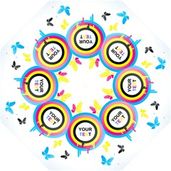 Colorful Butterfly Rainbow Circle Animals Fly Pink Yellow Black Blue Text Folding Umbrellas by Alisyart