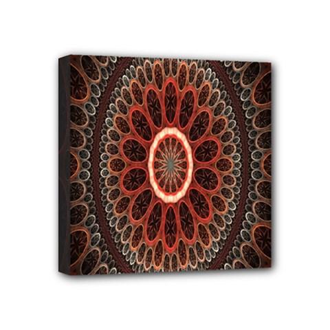 Circles Shapes Psychedelic Symmetry Mini Canvas 4  X 4  by Alisyart