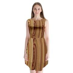 Circles Figure Light Gold Sleeveless Chiffon Dress   by Alisyart