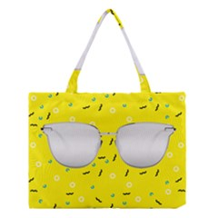 Glasses Yellow Medium Tote Bag