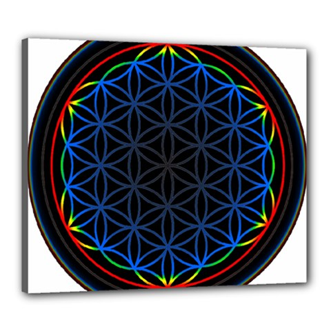 Flower Of Life Canvas 24  X 20  by Onesevenart