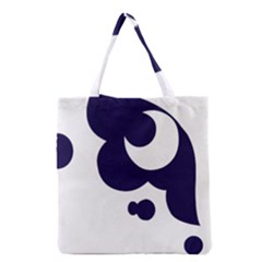 Month Blue Grocery Tote Bag