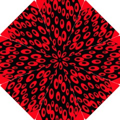 Scatter Shapes Large Circle Black Red Plaid Triangle Hook Handle Umbrellas (small) by Alisyart