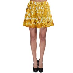 Honeycomb Fine Honey Yellow Sweet Skater Skirt by Alisyart