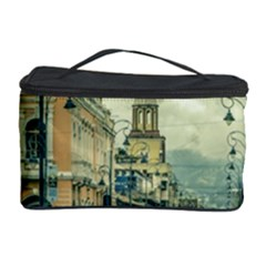 Historic Center Urban Scene At Riobamba City, Ecuador Cosmetic Storage Case by dflcprints