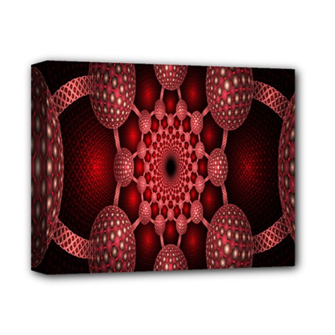 Lines Circles Red Shadow Deluxe Canvas 14  X 11  by Alisyart