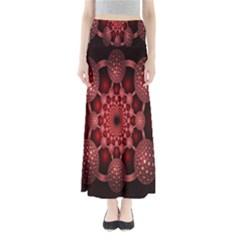 Lines Circles Red Shadow Maxi Skirts by Alisyart