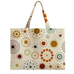 Seamless Floral Flower Orange Red Green Blue Circle Zipper Mini Tote Bag by Alisyart