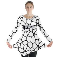 Seamless Cobblestone Texture Specular Opengameart Black White Long Sleeve Tunic  by Alisyart