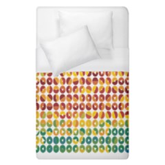 Weather Blue Orange Green Yellow Circle Triangle Duvet Cover (single Size) by Alisyart