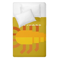 Animals Scorpio Zodiac Orange Yellow Duvet Cover Double Side (single Size) by Alisyart
