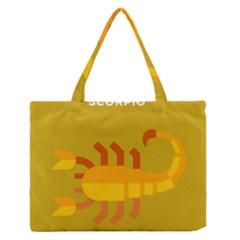 Animals Scorpio Zodiac Orange Yellow Medium Zipper Tote Bag by Alisyart