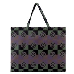 Deco Zipper Large Tote Bag by CannyMittsDesigns