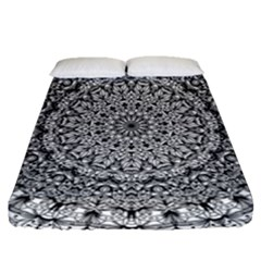 Mandala Boho Inspired Hippy Hippie Design Fitted Sheet (queen Size) by CraftyLittleNodes