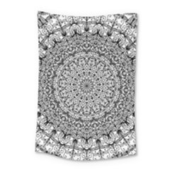 Mandala Boho Inspired Hippy Hippie Design Small Tapestry by CraftyLittleNodes