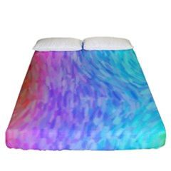 Abstract Color Pattern Textures Colouring Fitted Sheet (king Size)