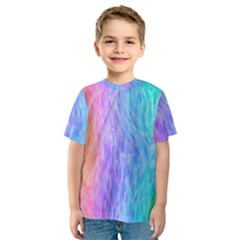 Abstract Color Pattern Textures Colouring Kids  Sport Mesh Tee