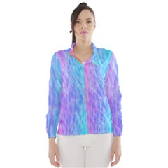 Abstract Color Pattern Textures Colouring Wind Breaker (women)