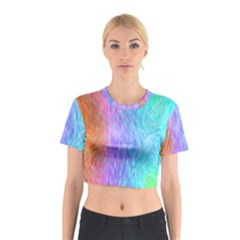 Abstract Color Pattern Textures Colouring Cotton Crop Top