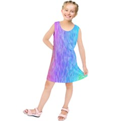 Abstract Color Pattern Textures Colouring Kids  Tunic Dress