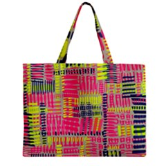 Abstract Pattern Zipper Mini Tote Bag