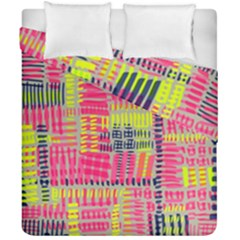Abstract Pattern Duvet Cover Double Side (california King Size) by Simbadda