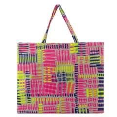 Abstract Pattern Zipper Large Tote Bag by Simbadda