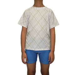 Background Pattern Kids  Short Sleeve Swimwear