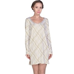 Background Pattern Long Sleeve Nightdress