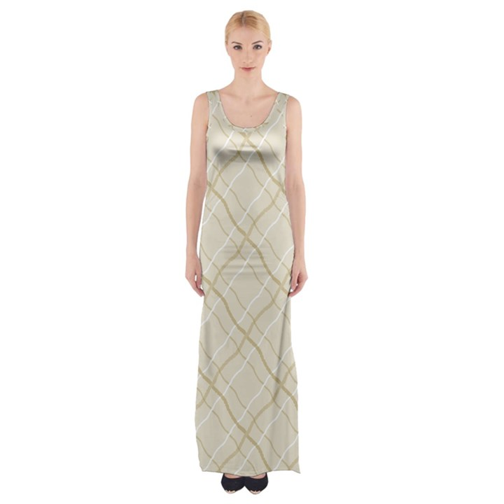 Background Pattern Maxi Thigh Split Dress