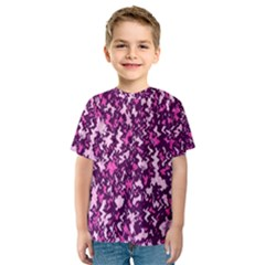 Chic Camouflage Colorful Background Kids  Sport Mesh Tee