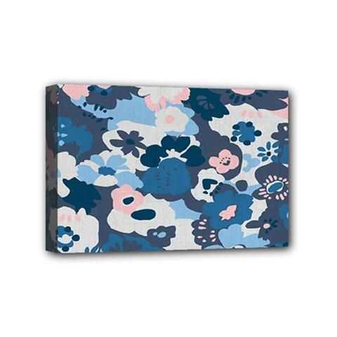 Fabric Wildflower Bluebird Mini Canvas 6  X 4  by Simbadda