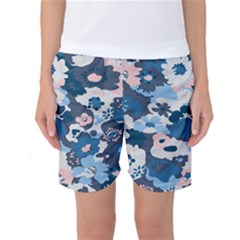 Fabric Wildflower Bluebird Women s Basketball Shorts