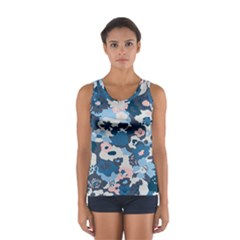 Fabric Wildflower Bluebird Women s Sport Tank Top