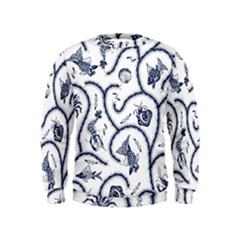 Fish Pattern Kids  Sweatshirt by Simbadda