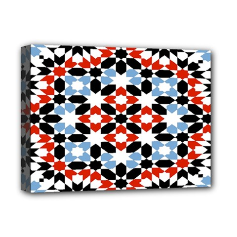 Morrocan Fez Pattern Arabic Geometrical Deluxe Canvas 16  X 12   by Simbadda