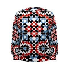 Morrocan Fez Pattern Arabic Geometrical Women s Sweatshirt