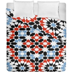 Morrocan Fez Pattern Arabic Geometrical Duvet Cover Double Side (california King Size)