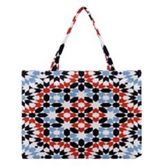 Morrocan Fez Pattern Arabic Geometrical Medium Tote Bag by Simbadda