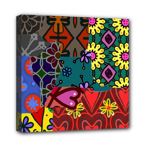 Patchwork Collage Mini Canvas 8  X 8  by Simbadda